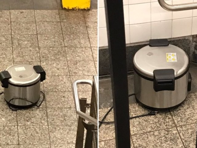 One of New York City's busiest transit hubs was evacuated after police found pressure cookers, which turned out to not be explosives