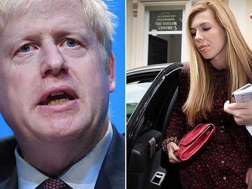 Boris Johnson and Carrie Symonds 'almost split earlier this month' after four rows in six weeks