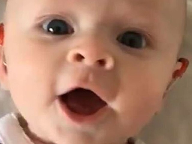 Dad shares 'delightful' clip after turning baby's hearing aids on