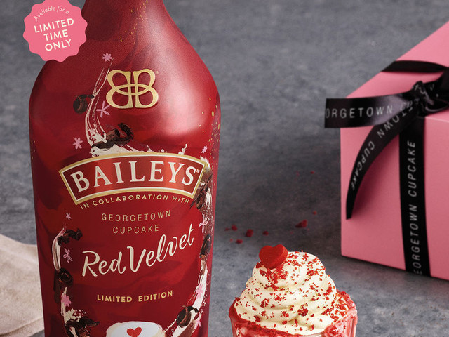 Collaborative Cupcake Liqueurs - Baileys Red Velvet was Created with Georgetown Cupcake (TrendHunter.com)