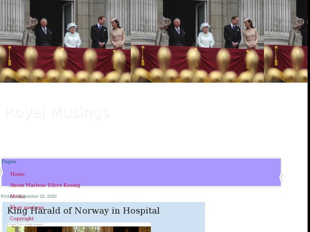 King Harald of Norway in Hospital