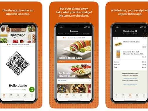 """Cashierless Grocery Shops - Amazon Go Grocery Offers """"Just Walk Out Shopping"""" (TrendHunter.com)"""