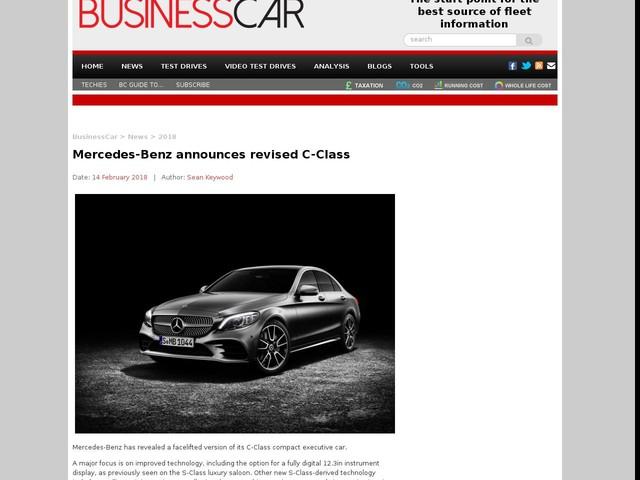 Mercedes-Benz announces revised C-Class