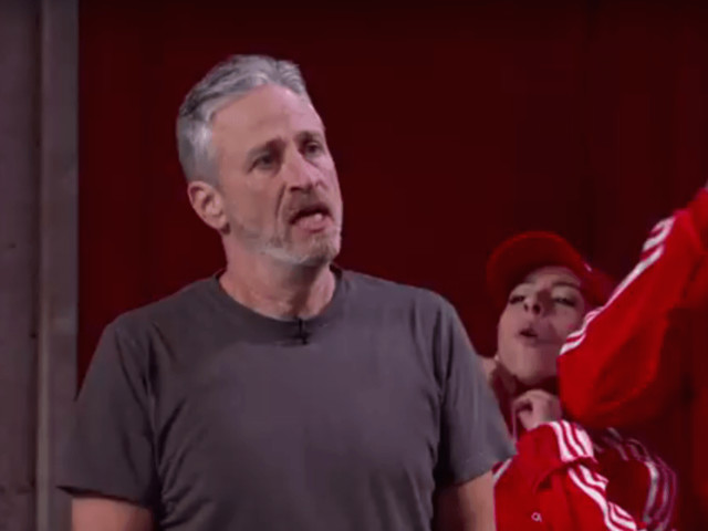 Jon Stewart Infiltrates Jimmy Kimmel Live! With His Funky Fresh Jewish Dance Crew