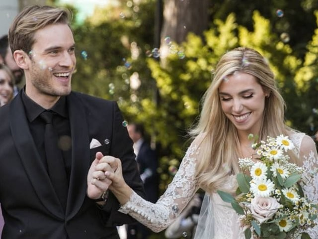 YouTuber PewDiePie got married to his longtime girlfriend — see the photos from their wedding day