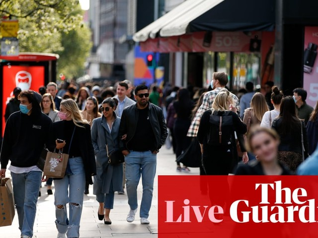 UK retail sales surge in April as people flock back to shops – business live