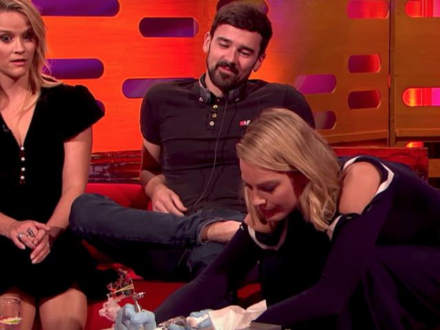 Margot Robbie Tattoos Fan During 'Graham Norton Show' Interview