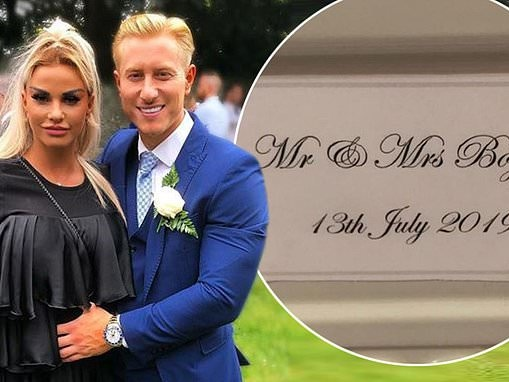 Katie Price is accused of attempting to steal the limelight at beau Kris Boyson's relative's wedding
