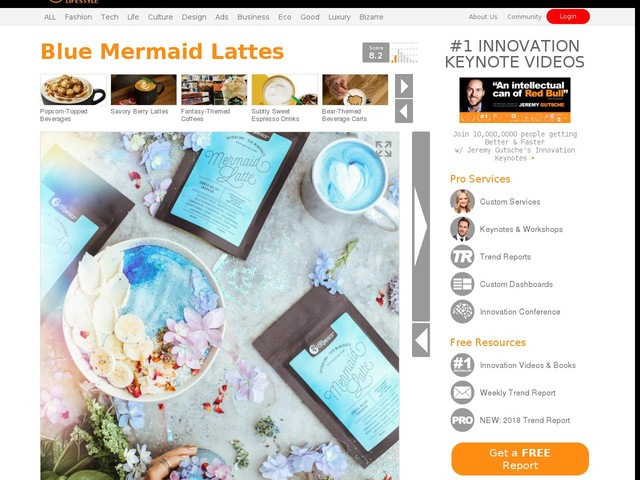 Blue Mermaid Lattes - Nutra Organic' Mermaid Latte Mix is Healthy and Instagram Worthy (TrendHunter.com)