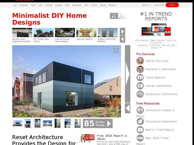 Minimalist DIY Home Designs - Reset Architecture Provides the Design for a Minimal Cube-Shaped House (TrendHunter.com)