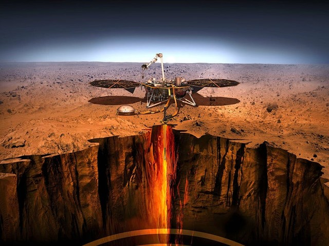 NASA's InSight Mars lander just gave scientists an unprecedented look at the guts of the red planet. Here's how they compare to Earth's.