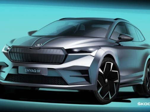 Skoda Enyaq EV Exterior Sketches Revealed Officially