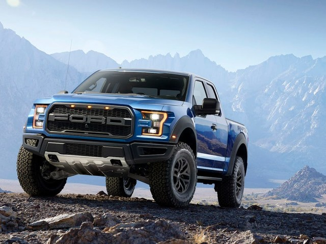 Kanye West drives a fleet of blacked-out Ford Raptors around his $14 million Wyoming ranch — take a closer look at the high-performance pickup