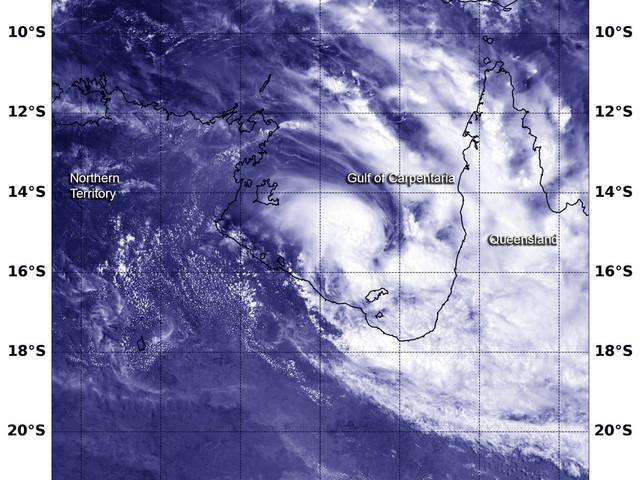 NASA-NOAA's satellite tracks a stronger Tropical Cyclone Owen nearing landfall
