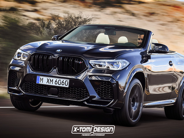Rendering: Care for a BMW X6 M Convertible?