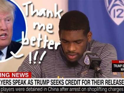 Donald Trump Whines On Twitter About 'Ungrateful' Basketball Players, Says He 'Should Have Left Them' In Chinese Jail!