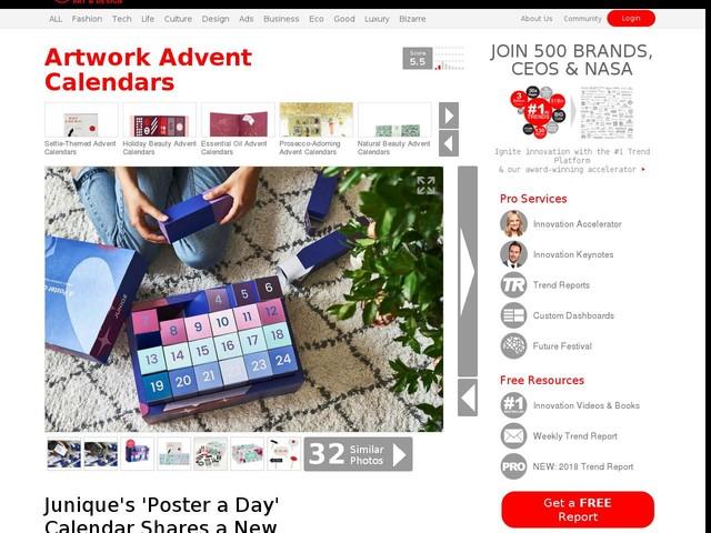 Artwork Advent Calendars - Junique's 'Poster a Day' Calendar Shares a New Artist Print Daily (TrendHunter.com)
