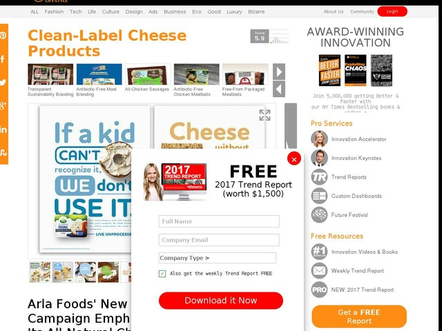 Clean-Label Cheese Products - Arla Foods' New Campaign Emphasizes Its All-Natural Cheese Products (TrendHunter.com)