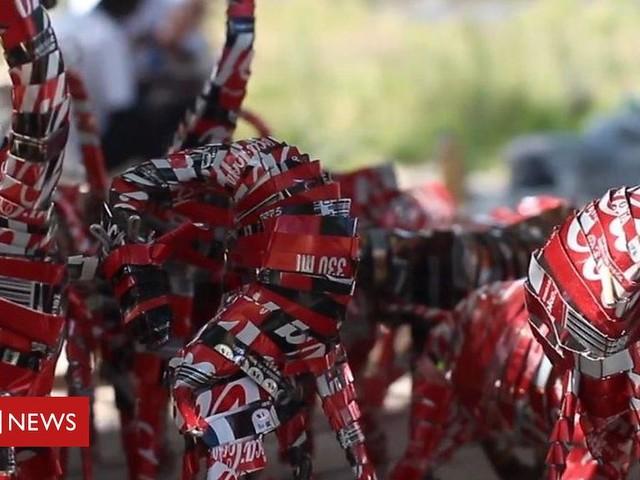 Zimbabwean Manners Mukuwiri recycles rubbish into art