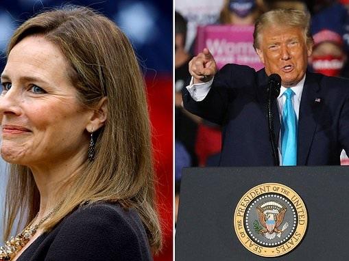 Donald Trump savors his nomination of Judge Amy Coney Barrett