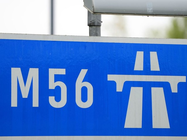 A section of the M56 near Manchester Airport will be closed all weekend