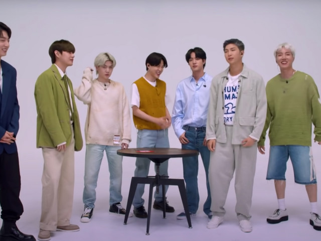 BTS Stuffed Figurines of Themselves into V's Pants on The Tonight Show