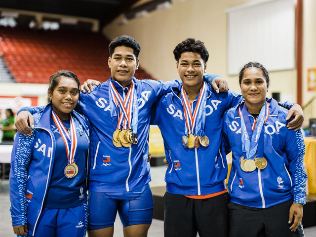 World junior champion delights home crowd with triple Samoa 2019 weightlifting gold
