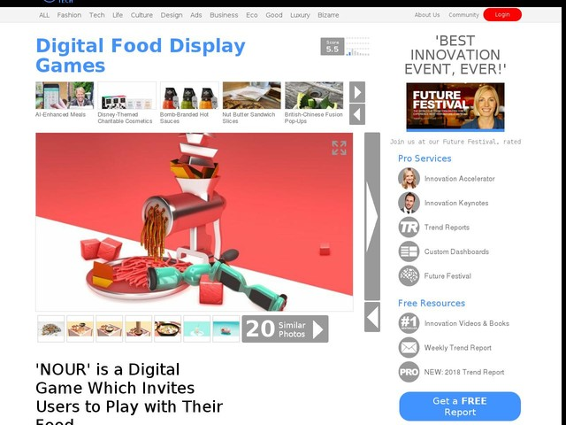Digital Food Display Games - 'NOUR' is a Digital Game Which Invites Users to Play with Their Food (TrendHunter.com)