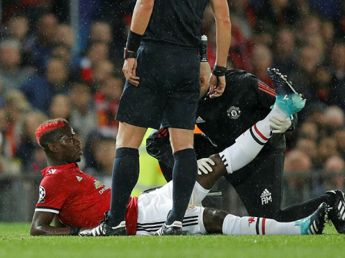 Mourinho: Injured Pogba could be out for 'weeks'
