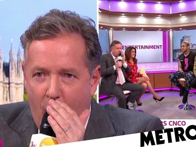 Piers Morgan's attempt at beatboxing leaves a lot to be desired as he comes up against boyband CNCO