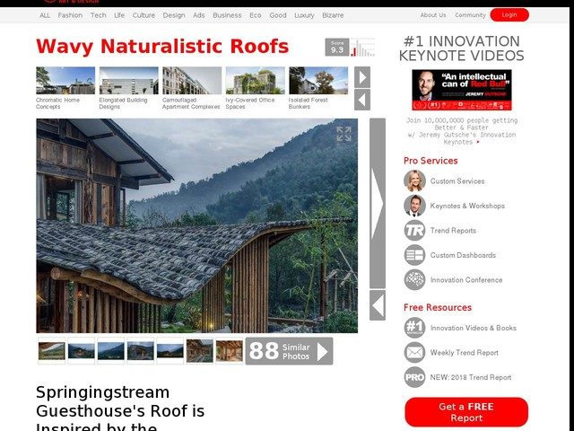Wavy Naturalistic Roofs - Springingstream Guesthouse's Roof is Inspired by the Surrounding Mountains (TrendHunter.com)