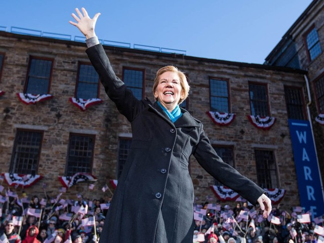 Elizabeth Warren suggested she might not have to face Trump in the 2020 elections because he'll be in prison