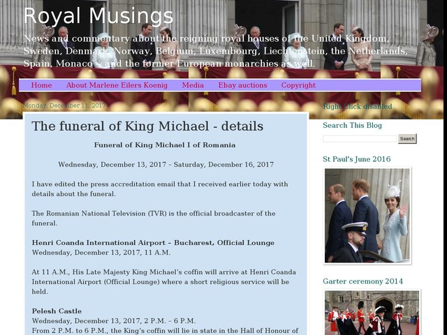 The funeral of King Michael - details