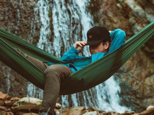 This $65 hammock weighs 7 ounces and folds down smaller than my palm — it's great for backpacking and days at the park