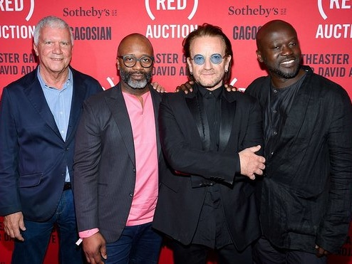 Bono Attends Third (RED) Auction In Miami