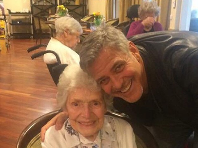 George Clooney surprised a fan at her 87th birthday party because he's George Clooney