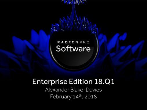 AMD Releases Radeon Pro Software Enterprise Edition 18.Q1 WHQL: Adrenalin Comes To Enterprise