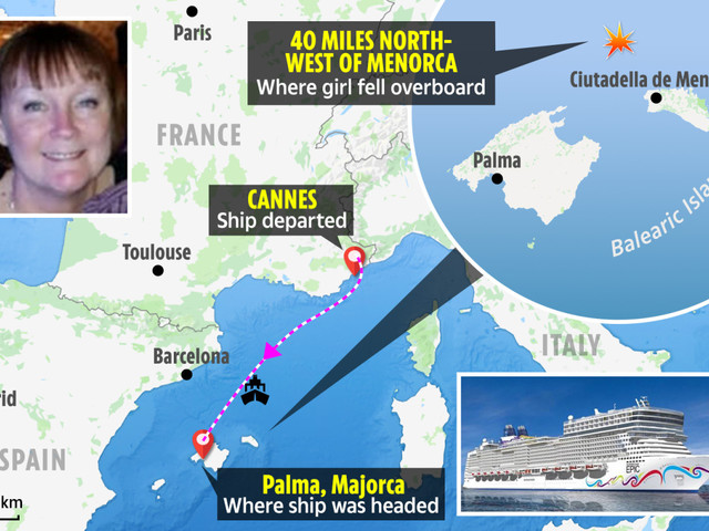 Brit tourists reveal how 'girl in pink pyjamas who can't swim' fell from 'rocky' cruiser as search called off