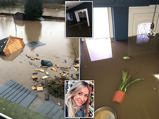 Mother-of-three, 46, reveals how she found her home flooded with waist-high water