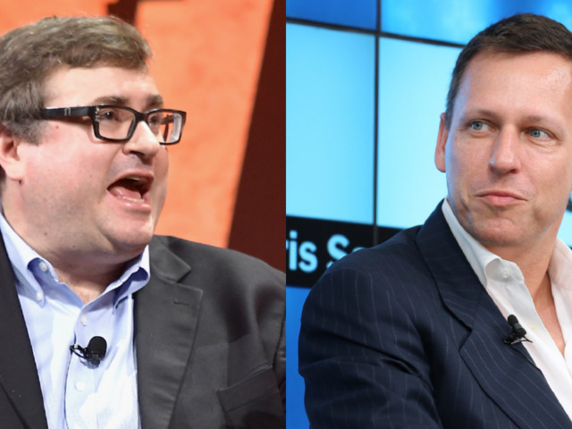 Reid Hoffman and Peter Thiel agree that business school can be dangerous — and they pause when they see it on an entrepreneur's résumé