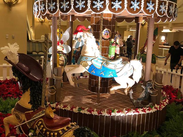 Photo Tour: 20th Anniversary Gingerbread Carousel at Disney's Beach Club Revealed!