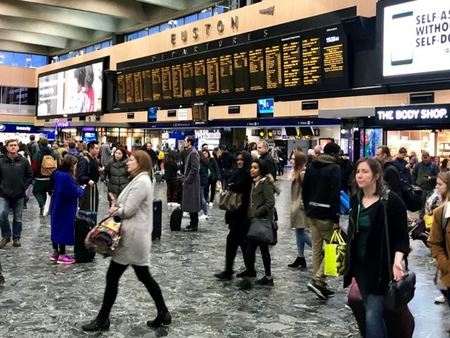 No trains out of Euston Station over the Easter weekend
