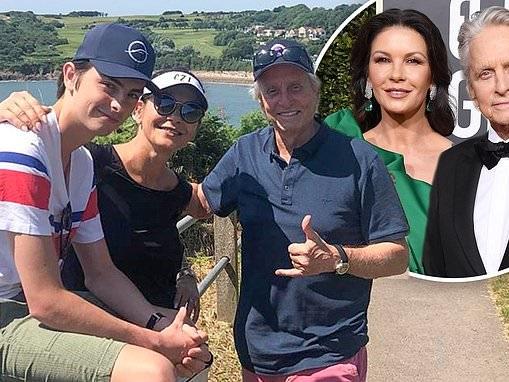 Catherine Zeta-Jones and her husband Michael Douglas jet off to Wales
