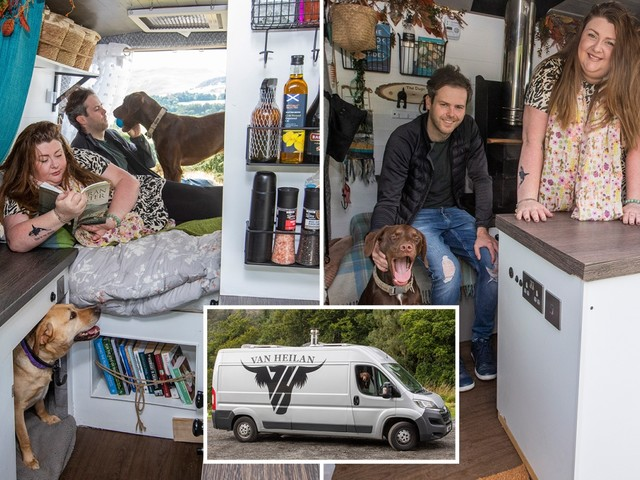I sold my £150k dream house to live in a VAN – it had its own ballroom but I prefer life on the road