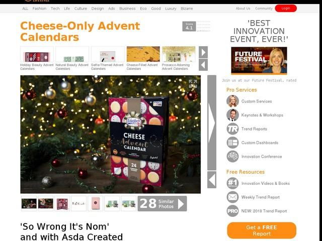 Cheese-Only Advent Calendars - 'So Wrong It's Nom' and with Asda Created a Cheese Advent Calendar (TrendHunter.com)