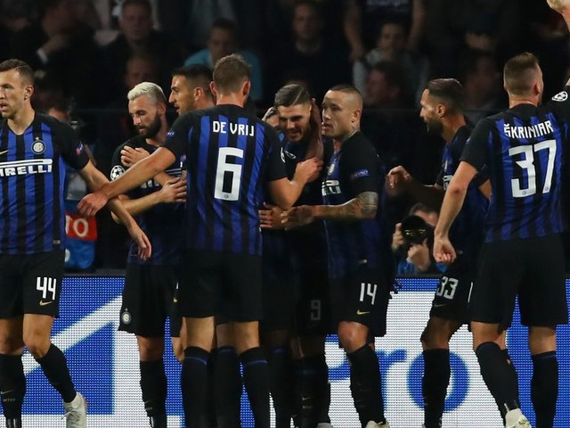 Where is Inter Milan at the quarter-mark of the season?