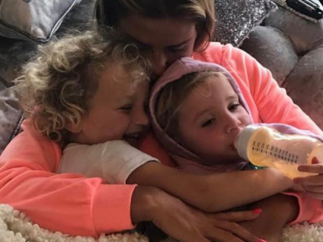 The moment Katie Price's daughter Bunny, 2, 'meets Jordan'