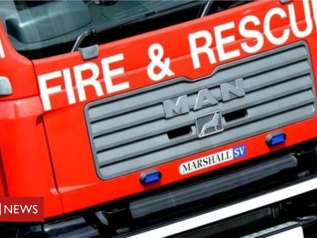 Fire crews tackle blaze at border garage
