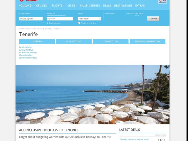All Inclusive Holidays to Tenerife 2017 / 2018 | Thomson