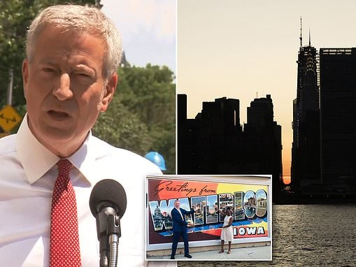 De Blasio defends his action on the Manhattan Blackout as he's criticized for being an absent mayor